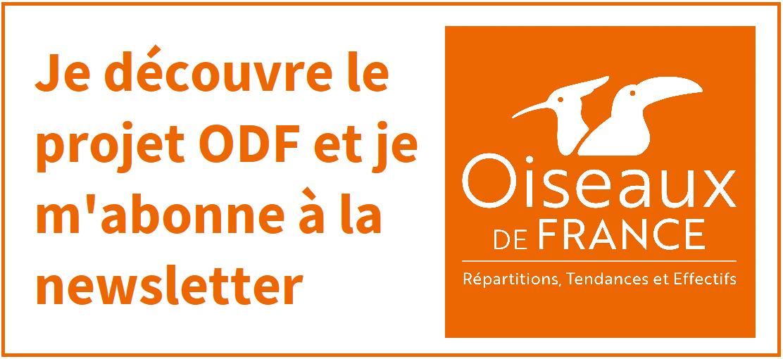 Bouton d'abonnement à la newsletter Oiseaux de France